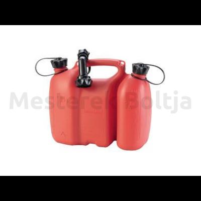 Üzemanyagtartály, két rekeszes piros, 3,5l és 1,5l ( Huenersdorff )