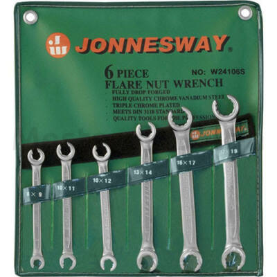 Jonnesway Fékcsőkulcs 6 darabos készlet