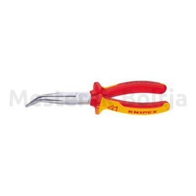 Knipex Rádiós fogó, csípőéllel VDE hajlított, 200mm