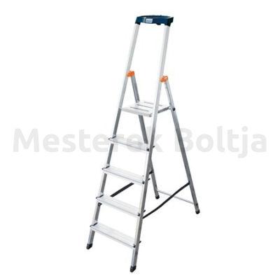 MONTO Safety egy oldalon járható lépcsőfokos állólétra, 5 fokos