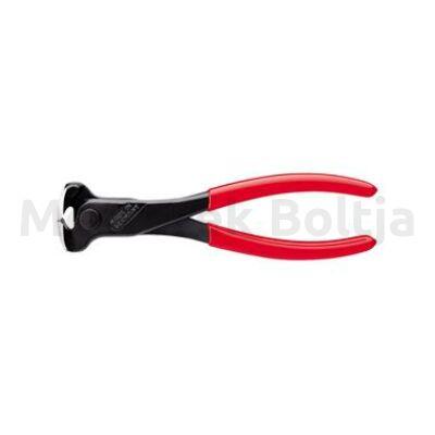 Knipex Előlcsípő fogó, fekete, políro műa. bevonatos markolat, 180mm