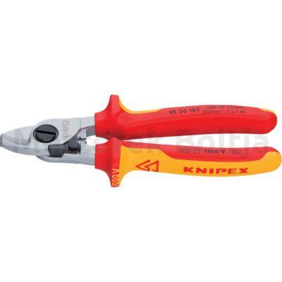 Knipex  VDE kábelolló 165 mm, barnított, vágóérték: Ø 15 mm, Knipex